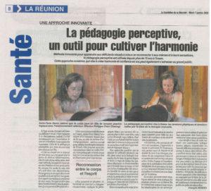 Article du journal Le Quotidien sur Anne-Flore Baron au SAMSAH DV IRSAM.
